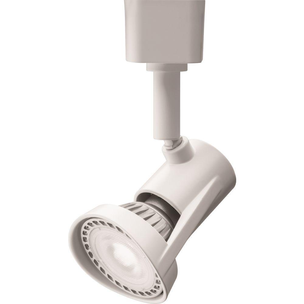 1-Light White LED Track Lighting Head