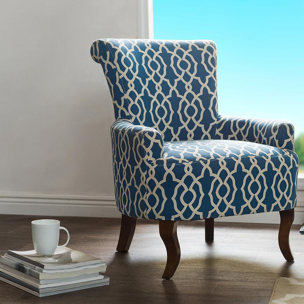 Simpli Home Kitchener Natural Polyester Accent Chair