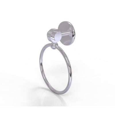 Satellite Orbit Two Collection Towel Ring with Groovy Accent in Polished Chrome