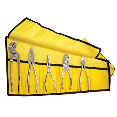 Stainless-Steel Pliers Set with Pouch (5-Piece)