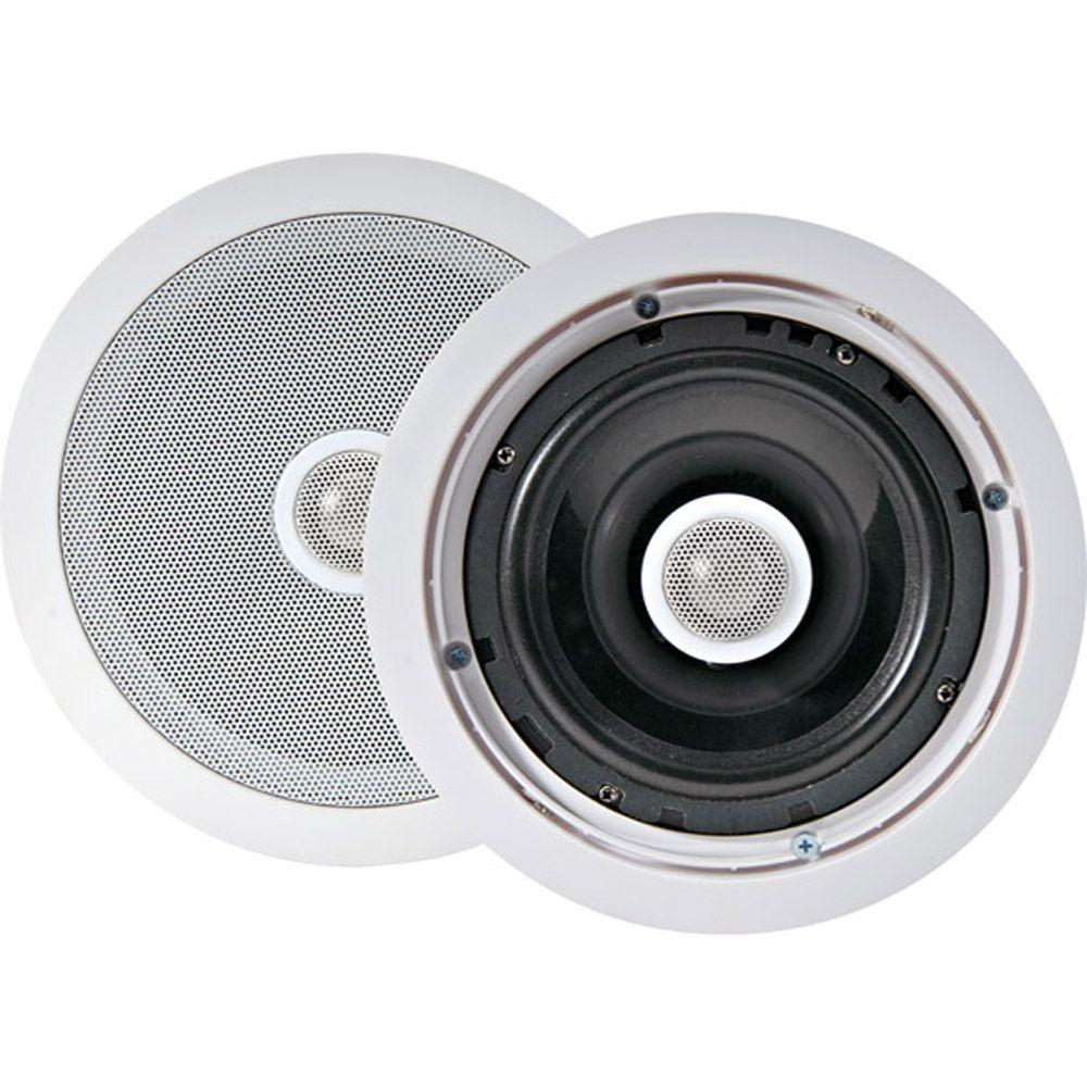 Pyle 8 in. 300-Watt 2-Way In-Ceiling Speakers-DISCONTINUED