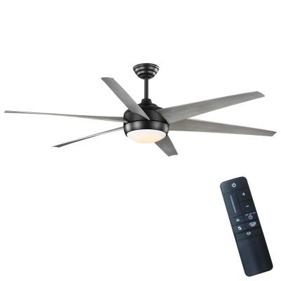 Windward 68 in. Integrated LED Indoor/Outdoor Matte Black Ceiling Fan with Light and Remote Control Color Changing