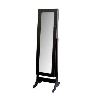 57 in. x 16 in. Stand with Storage Framed Mirror
