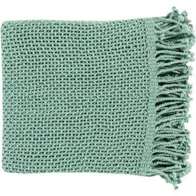Faxan Teal Cotton Throw