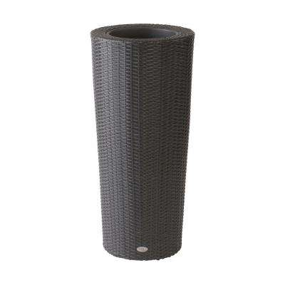 Vista 40 in. Round Resin Wicker Planter