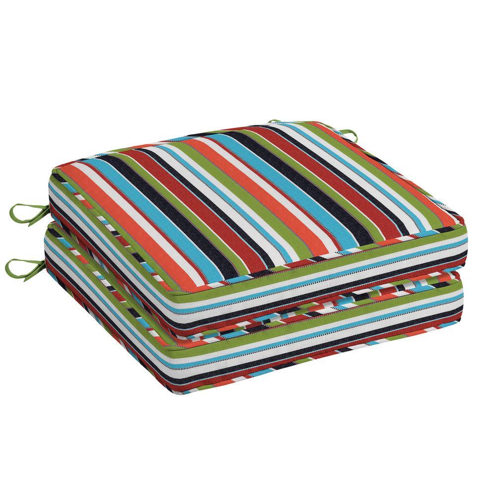 Oak Cliff 20 x 20 Sunbrella Carousel Confetti Outdoor Chair Cushion (2-Pack)