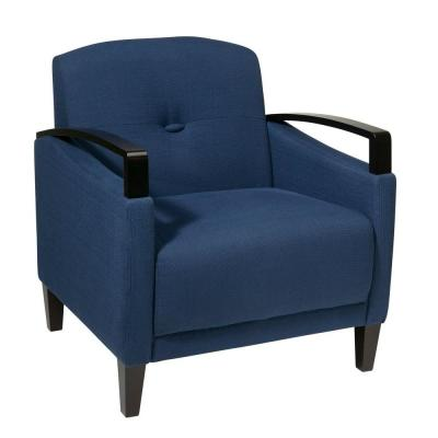 Main Street Indigo Fabric Arm Chair