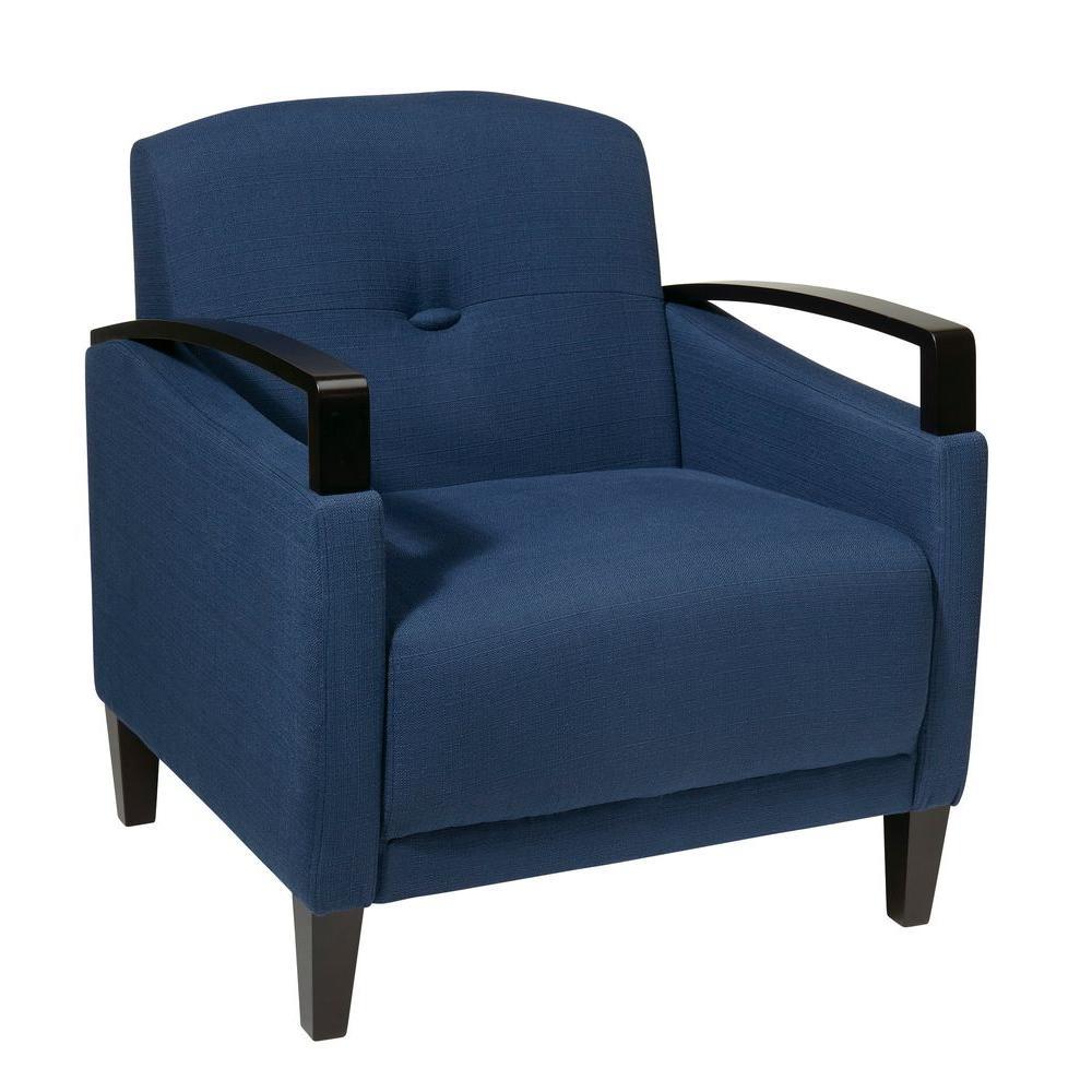 OSP Home Furnishings Main Street Indigo Fabric Arm Chair MST51-W17