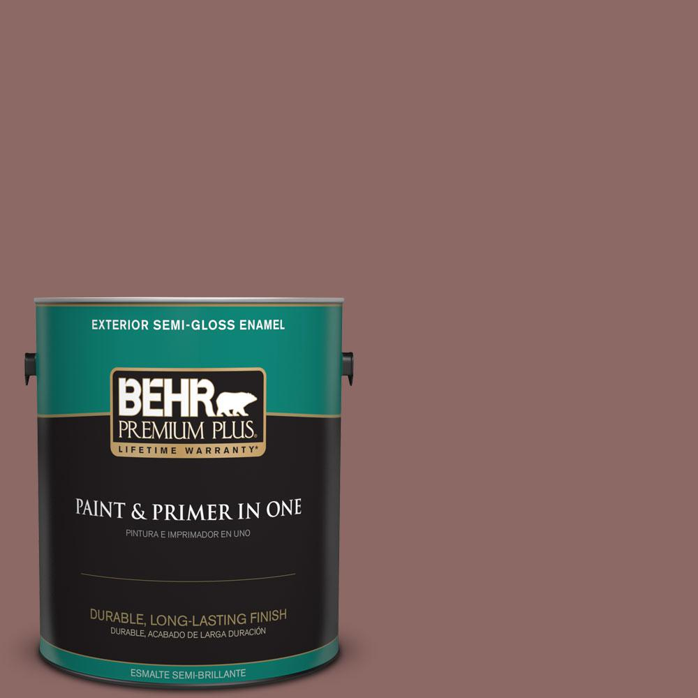 1-gal. #700B-5 Red Stone Semi-Gloss Enamel Exterior Paint