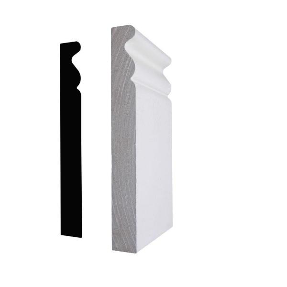3/4 in. x 3 in. x 6 in. Primed MDF Plinth Block Moulding