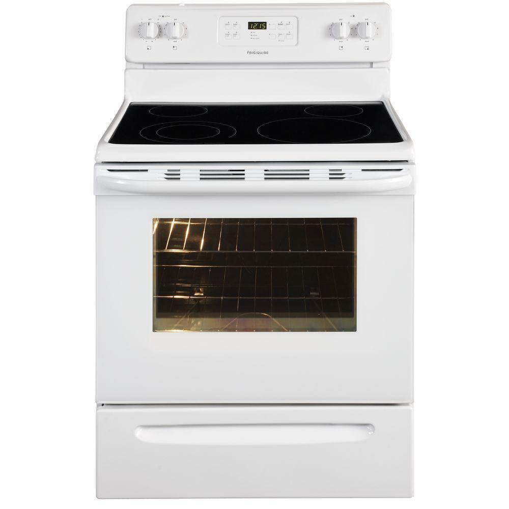 Frigidaire 30 in. 5.3 cu. ft. Electric Range with Self-Cleaning Oven in White