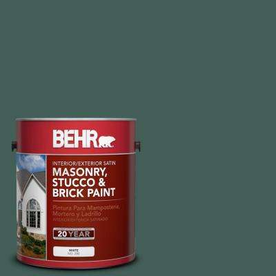 1 gal. #M440-7 Rainforest Satin Interior/Exterior Masonry, Stucco and Brick Paint