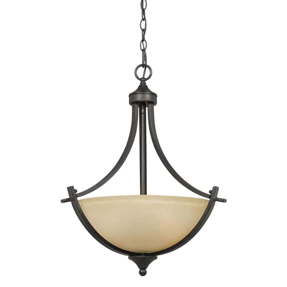 Galeri 3-Light Bronze Pendant