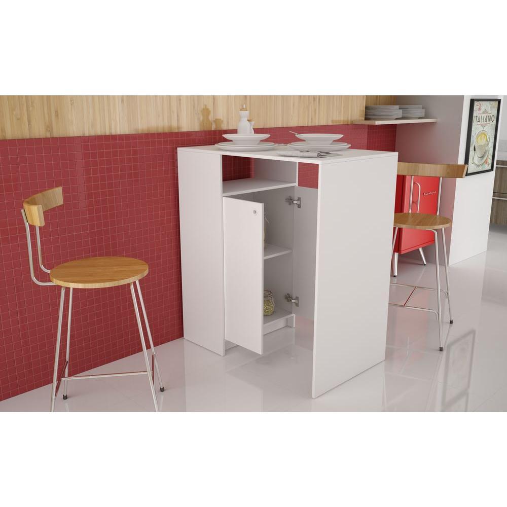 Boon White Storage Pub/Bar Table