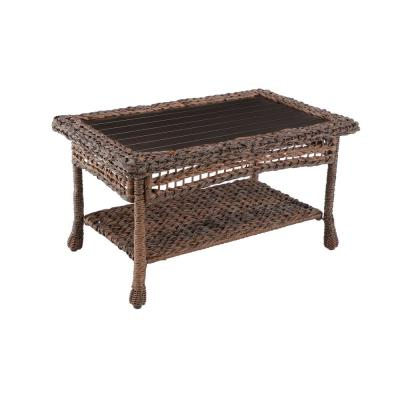 Modern Concept Faux Sea Grass Resin Rattan Outdoor Coffee Table