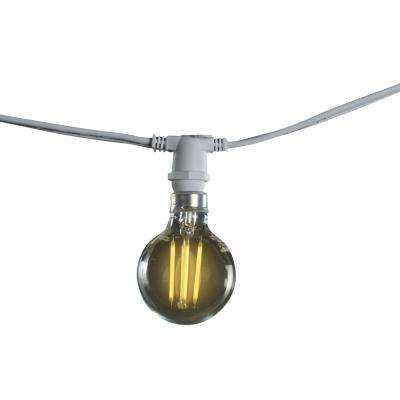 25 ft. 15-Socket with 4.5-Watt G16 LED White String Light Set