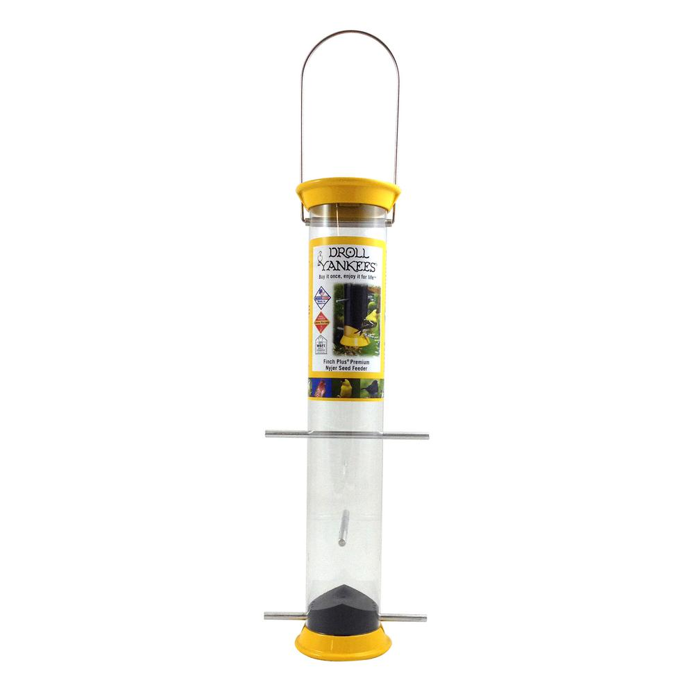 15 in. Yellow Tubular Finch Bird Feeder