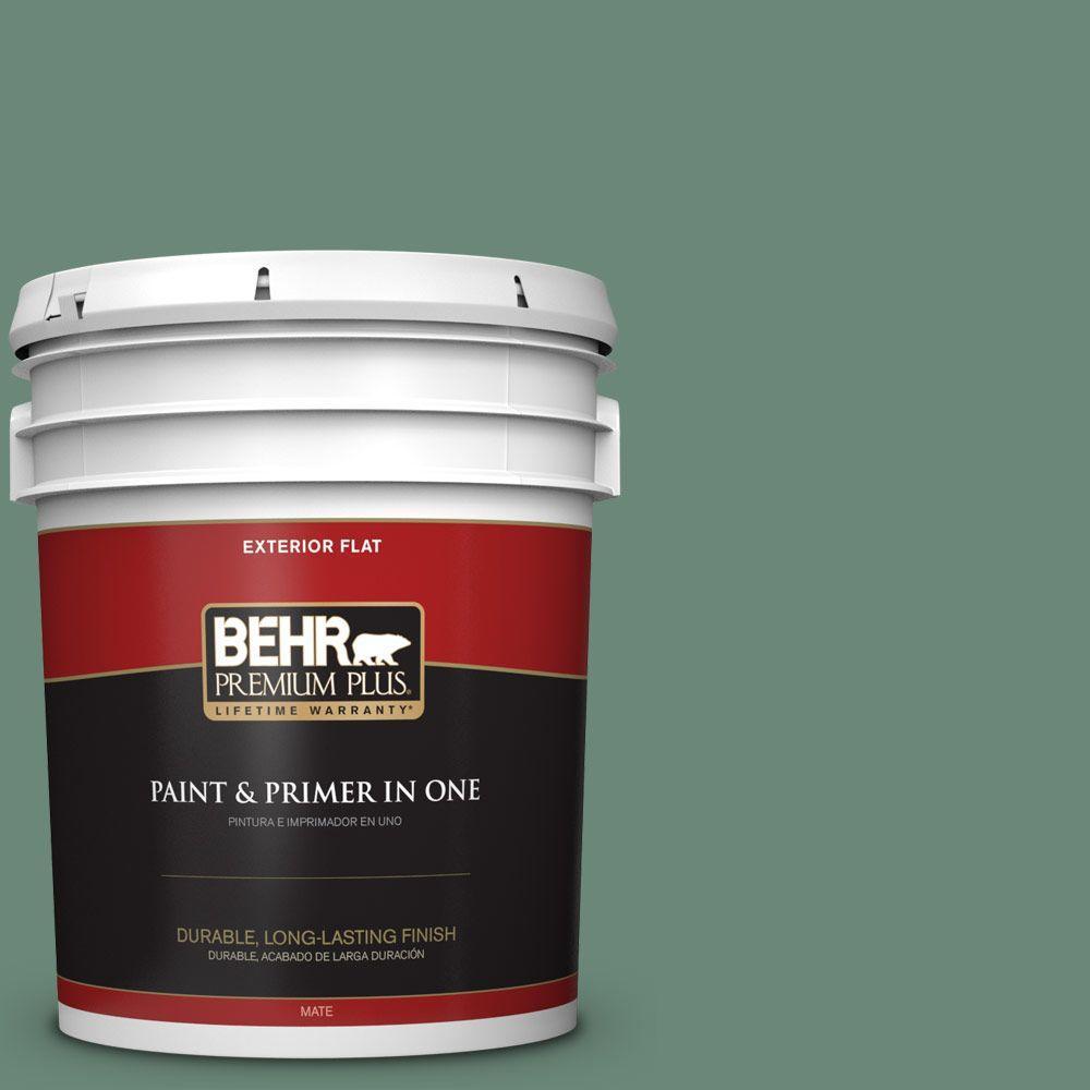 BEHR Premium Plus 5-gal. #S420-5 Sycamore Grove Flat Exterior Paint