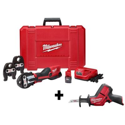 M12 12-Volt Lithium-Ion Force Logic Cordless Press Tool Kit (3 Jaws Included) with HACKZALL, Two 1.5 Ah Battery and Case