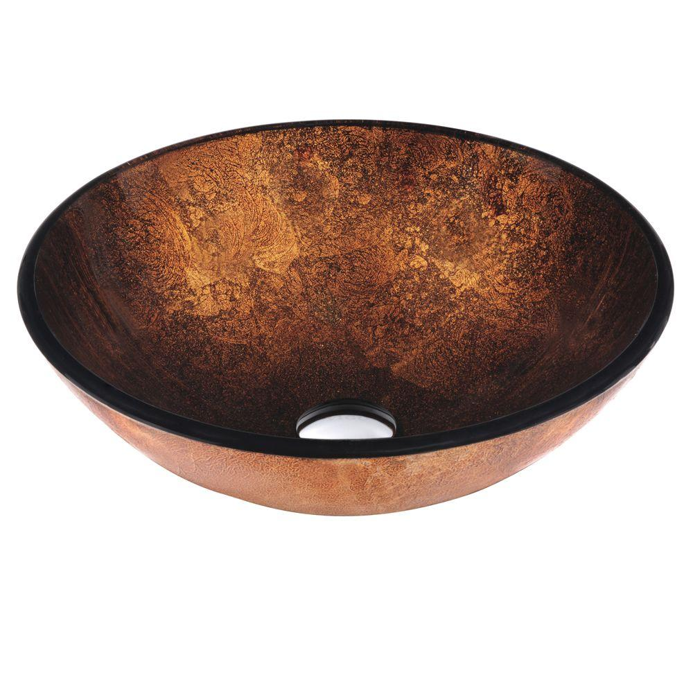 VIGO Vessel Sink in Russet with Faucet Set in Browns-VGT128 - The ...