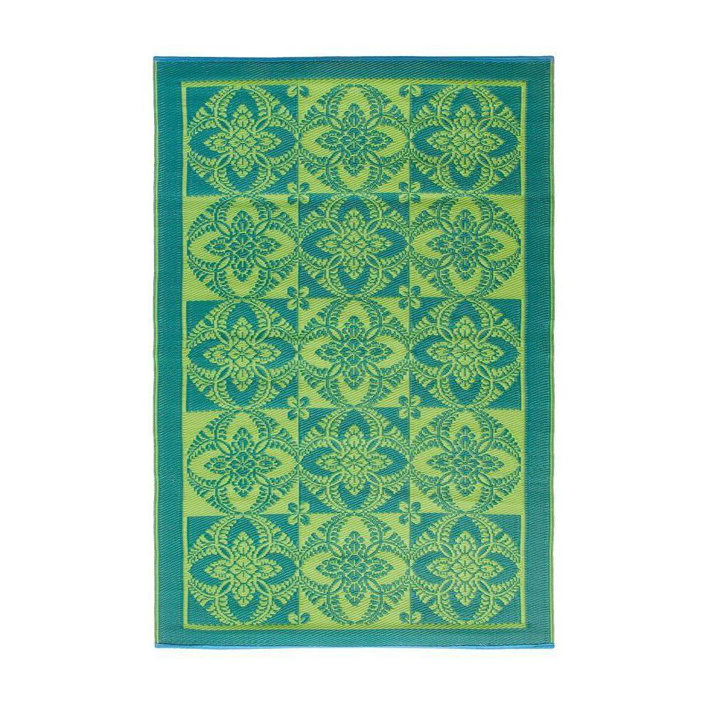 Achla Designs Green Apple 4 ft. x 6 ft. Indoor/Outdoor Area Rug, Green Apple Lime Achla Designs Green Apple 4 ft. x 6 ft. Indoor/Outdoor Area Rug, Green Apple Lime