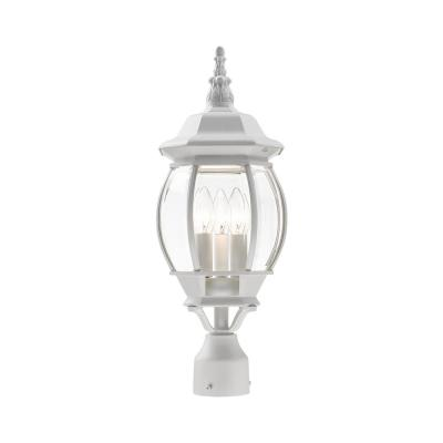 Frontenac 3-Light Textured White Outdoor Wall Lantern