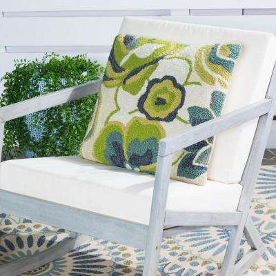 Jacobean Floral Soleil Square Outdoor Throw Pillow (Pack of 2)