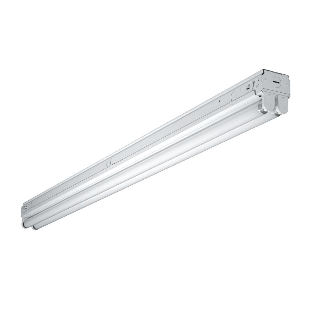 Cooper Lighting 4 Ft White Narrow Fluorescent Strip Light Fixture With 1 T8 Socket