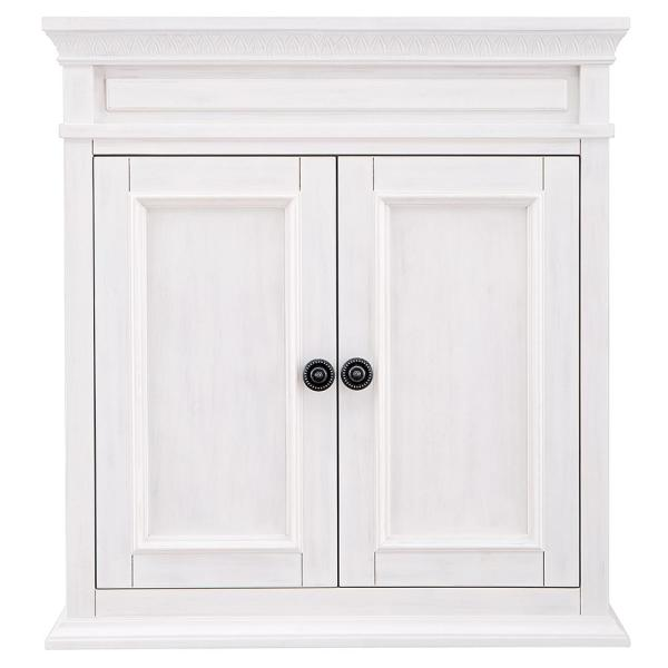 Cailla 26 in. W x 28 in. H Wall Cabinet in White Wash