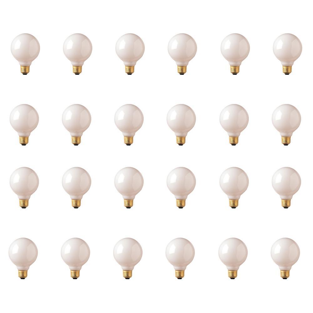 40-Watt G25 White Dimmable Warm White Light Incandescent Light Bulb (24-Pack)