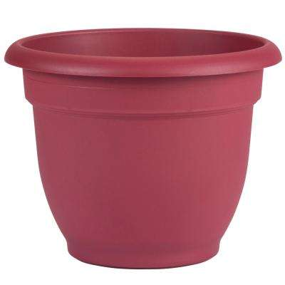 Ariana 10 in. Union Red Plastic Self Watering Planter