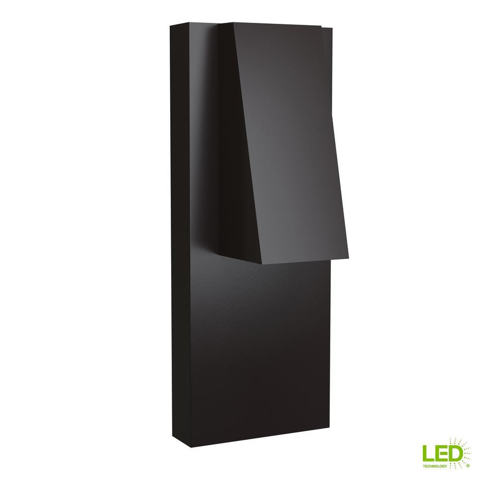 Peak 1-Light Bronze Outdoor Integrated LED Wall Mount Sconce