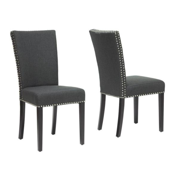 Baxton Studio Harrowgate Gray Fabric Upholstered Dining Chairs (Set of 2)