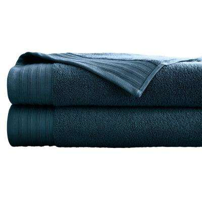 Oversized Quick Dry Bath Sheets in Denim (2-Pack)