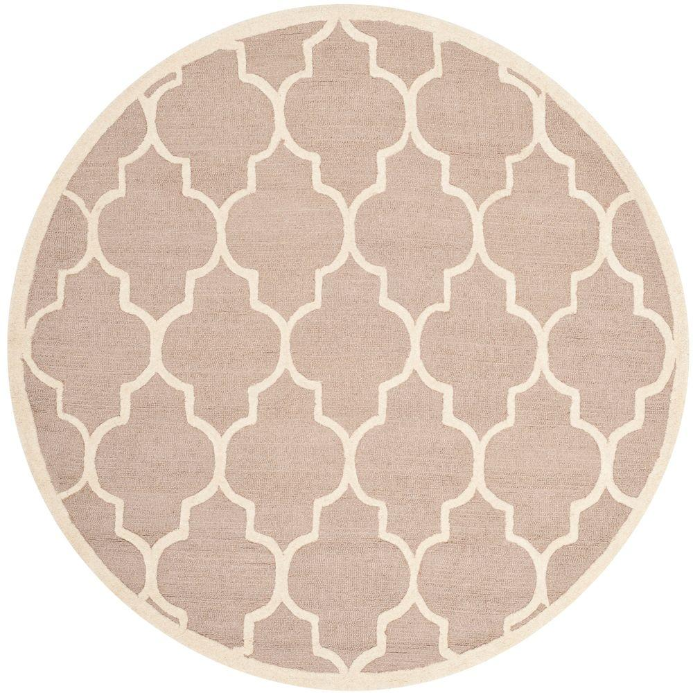 safavieh cambridge beige ivory 4 ft x 4 ft round area rug cam134j 4r the home depot. Black Bedroom Furniture Sets. Home Design Ideas