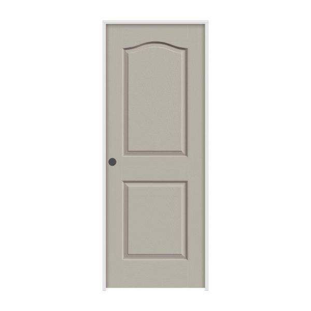 32 in. x 80 in. Camden Desert Sand Painted Right-Hand Textured Molded Composite MDF Single Prehung Interior Door