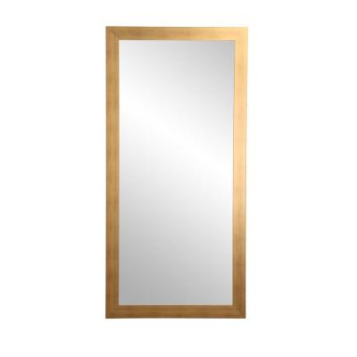 Oversized Gold Composite Hooks Industrial Mirror (71 in. H X 32 in. W)