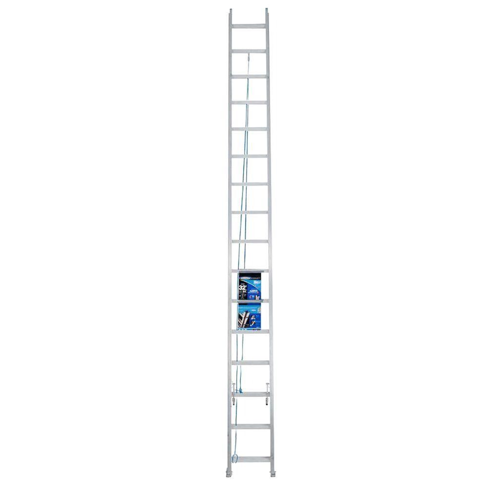 Werner 32 ft. Aluminum Extension Ladder with 250 lbs. Load Capacity Type I Duty Rating