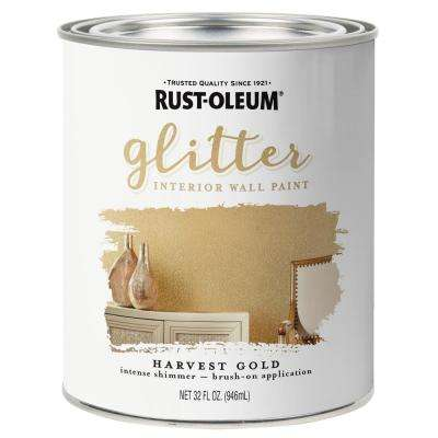 1 qt. Harvest Gold Glitter Interior Paint