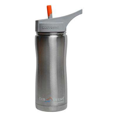 Summit Triple Insulated 17 fl. oz. Stainless Steel Bottle with Flip Straw