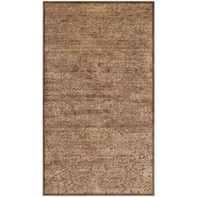 Martha Stewart Soft Anthracite/Camel 3 ft. 3 in. X 5 ft. 7 in. Area Rug