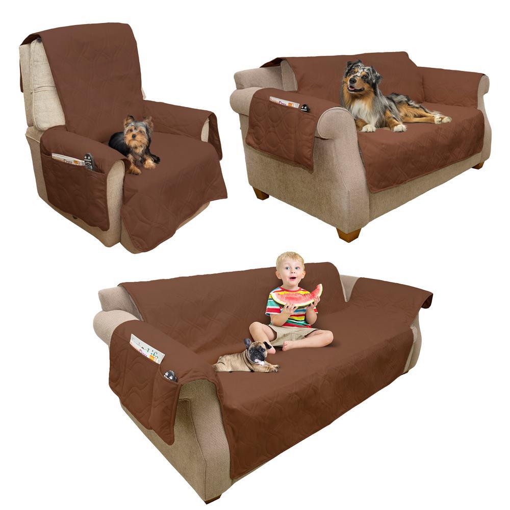 Petmaker Non-Slip Brown Waterproof Chair Slipcover M320125 ...