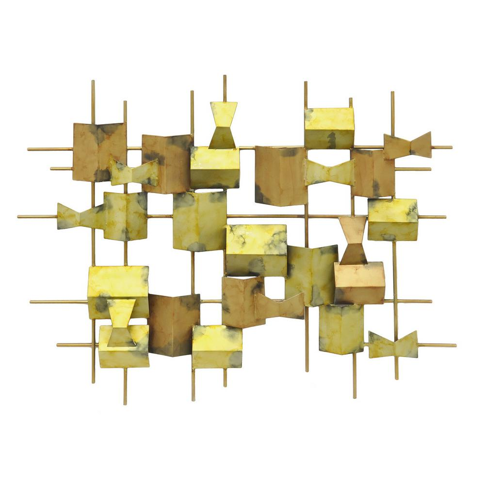 THREE HANDS Metal Wall Decoration-82132 - The Home Depot