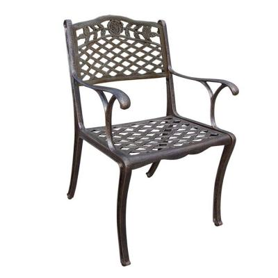 Tea Rose Bronze Aluminum Outdoor Dining Chair