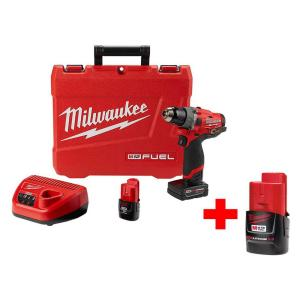 Milwaukee M12 FUEL 12-Volt Lithium-Ion Brushless Cordless Lithium-Ion 1/2 inch Hammer Drill Kit With Free M12... by Milwaukee