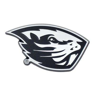 NCAA Oregon State University 3 in. x 3.2 in. Chrome Emblem