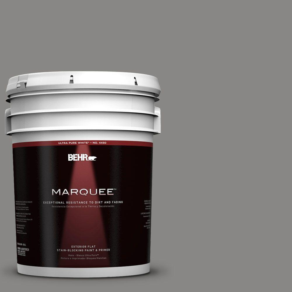BEHR MARQUEE 5-gal. #UL260-4 Pewter Ring Flat Exterior Paint