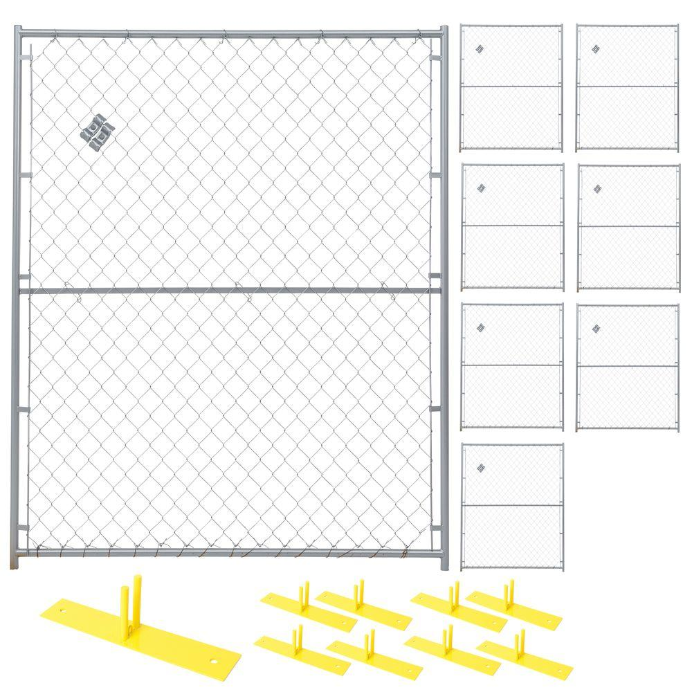 6 ft. x 40 ft. 8-Panel Powder-Coated Chain Link Temporary Fencing