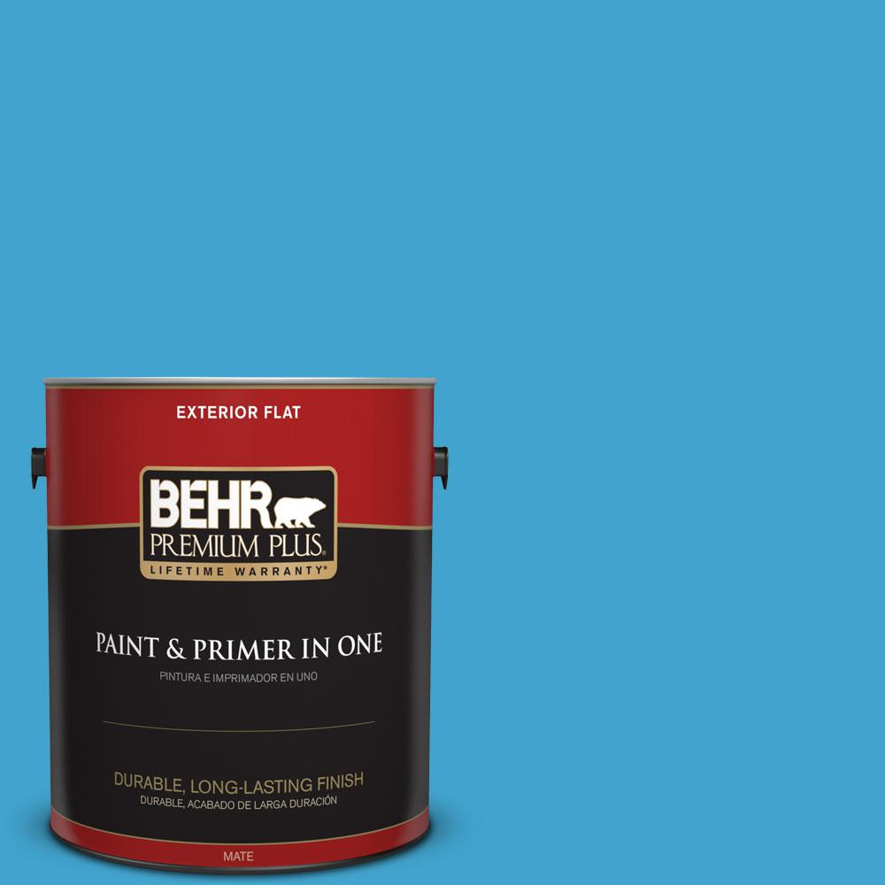 BEHR Premium Plus 1-gal. #540B-6 Sea Ridge Flat Exterior Paint