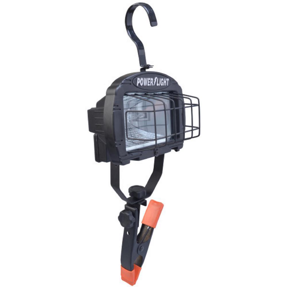 Halogen Work Lamp Flood Light 150w Portable Garage: Woods 250-Watt 10 Ft. Halogen Portable Clamp Work Light